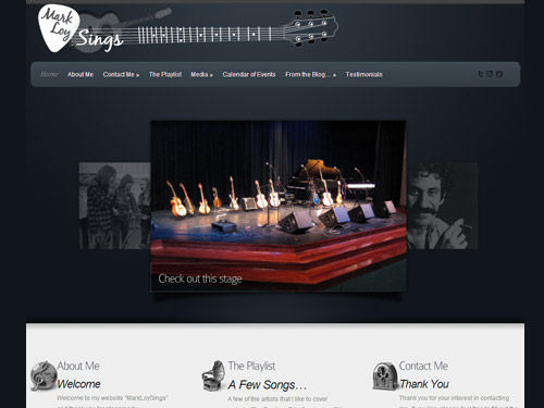 Mark Loy Sings – Website Design