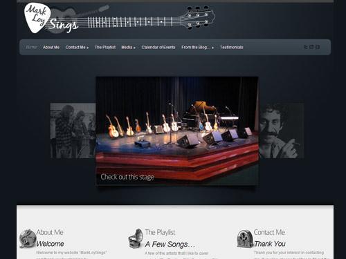 Mark Loy Sings – Website Design