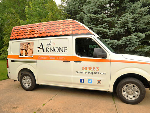 food truck with arnone logo by dlb web media