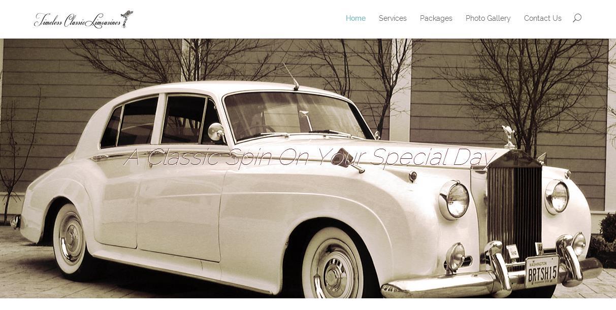 Timeless Classic Limousines – Website Design