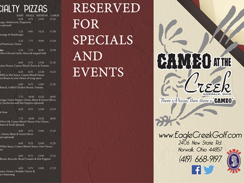 Cameo On The Creek – Print Design