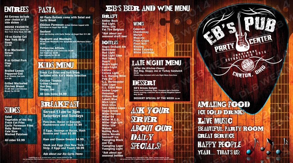 EB's Pub – Print Design