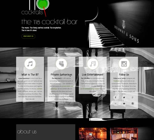 118Cocktails.com – Web Design by dlbwebmedia