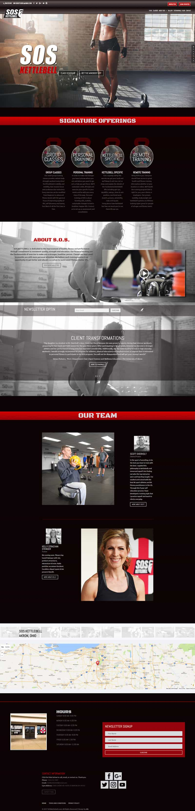 sos kettlebell home page image design by dlb web media akron ohio