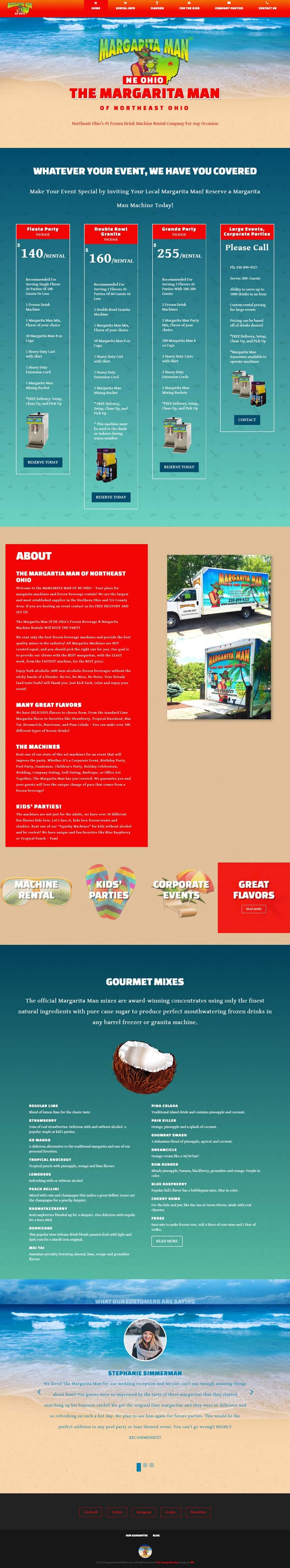 the margarita man website design by dlb web media home page